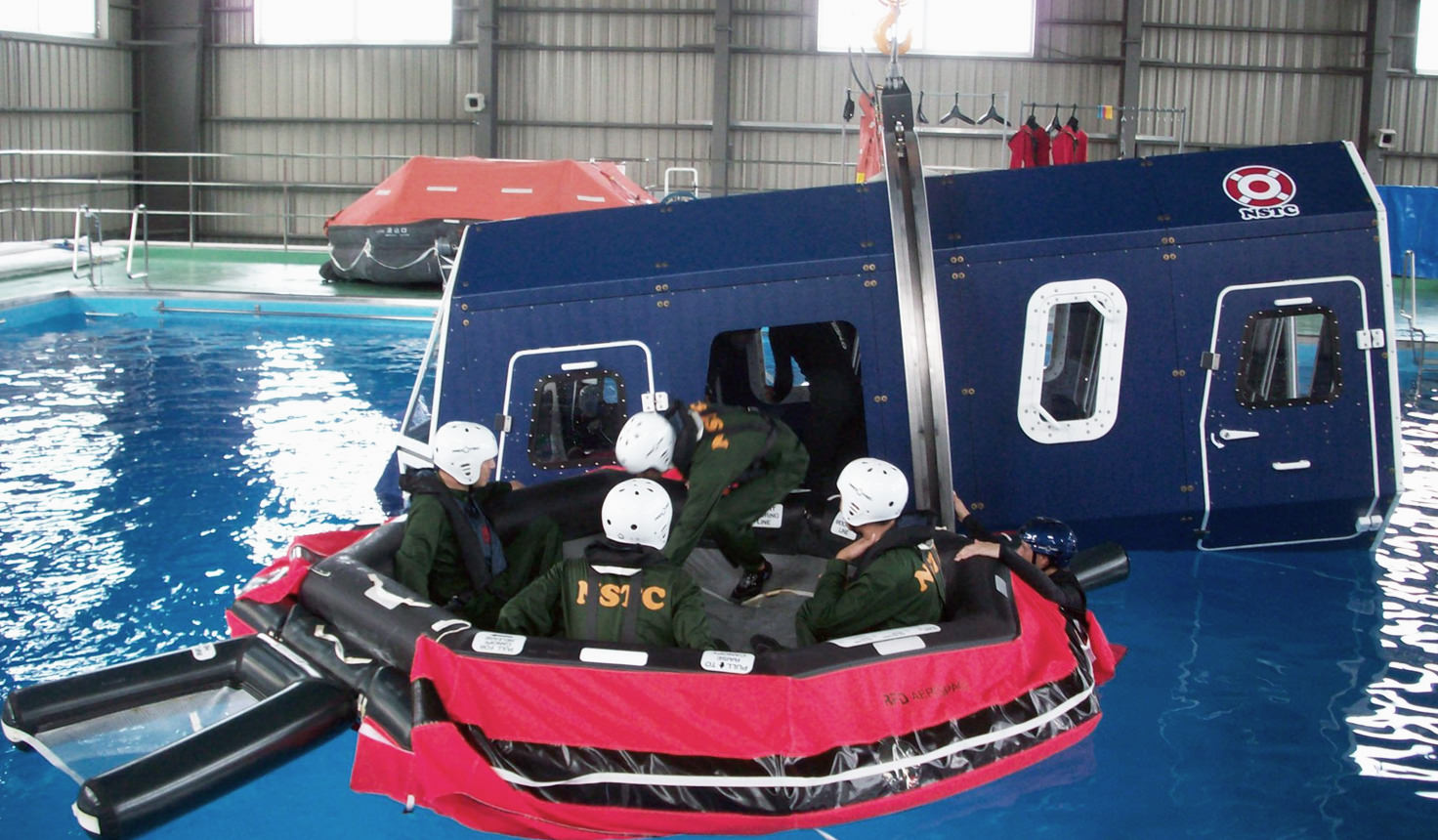 Helicopter water submersion escape training